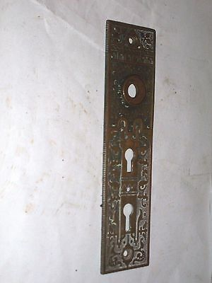 Antique Victorian Era Double Keyhole Door Knob Backplate  stamped 511 1/2 5