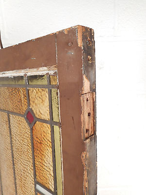 Tall Vintage Stained Glass Window Panel (2885)NJ 5