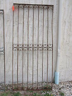Antique Victorian Iron Gate Window Garden Fence Architectural Salvage Door #318 6