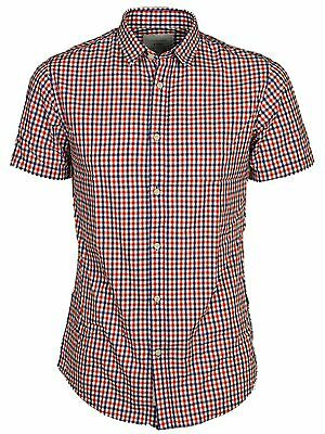 Jack & Jones Mens Short Sleeve Shirts Casual Slim Fit Check Size S,M,L,XL 3