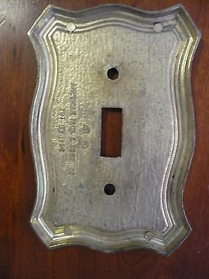 Ornate Vintage Victorian American Tack & Hd Single Light Switch Plate Cover 1968 3