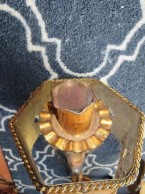 Regal Gilt Metal Gothic Torch Sconces Light Fixture 8