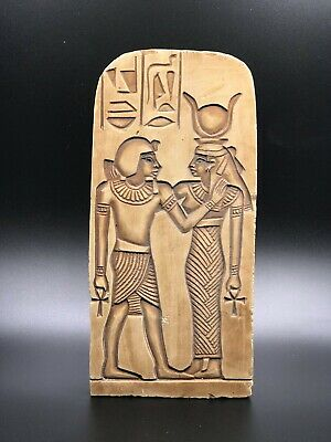 EGYPT EGYPTIAN ANTIQUES ISIS Suckling Stela Wall Relief Carved STONE 1290 BC 2