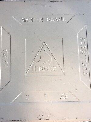 Vintage New Porcelain Floral Glazed Tile By Marca Incepa Made In Brazil 🇧🇷 8