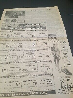 Vintage 1969 March 31 Free Press   Original  Newspaper Ike Dwight Eisenhower 6