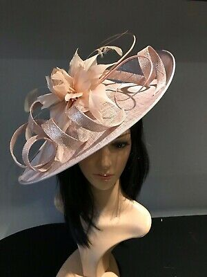SILVER GREY WEDDING ASCOT DISC HATINATOR Mother Of The Bride Hat OCCASION 6