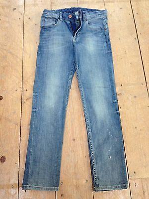 H&M Boys Skinny/Slim Stretch Jeans - Dark Blue Denim - Size 10-11 2