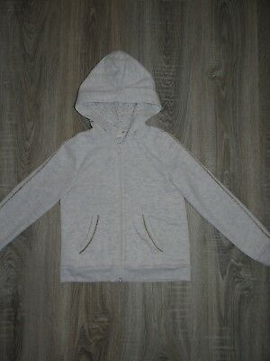 Girls H&M hoodie/ hooded jacket Gold stripes/ hooded top coat size 6-8 years 3
