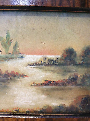 Antique Early 20th Century Signed / Monogrammed Watercolor Landscape Painting 4