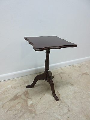 Bombay Company Cherry Lamp End Table Pedestal Stand 2