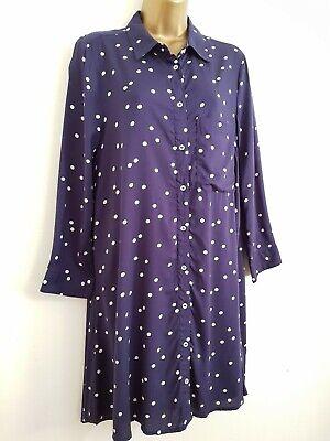 NEW Debenhams 10-20 Monochrome Polka Dot Spotted Black White Smock Midi Dress