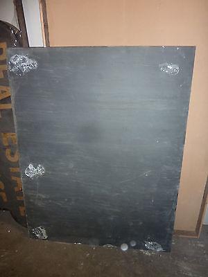 "antique ORIGINAL circa 1920's schoolhouse SLATE chalkboard 54.25 x 42"" UTICA, NY 8"