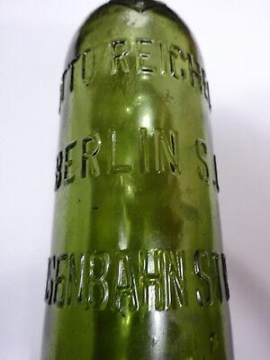 alte Bierflasche Mineralwasserflasche Otto Reichel Berlin SO Eisenbahnstr. 4 2