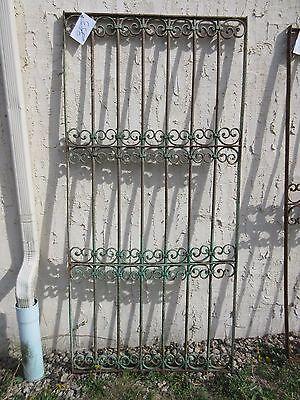 Antique Victorian Iron Gate Window Garden Fence Architectural Salvage Door #355 5