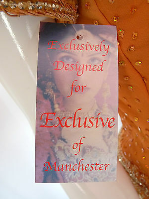 Asian Wedding Burnt Orange Embellished Lengha & Dupatta    (M)  Uk 10 £650  Bnwt 4