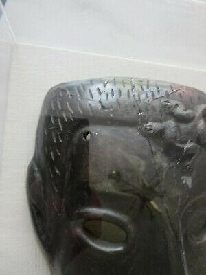 Antique Roman Greek Framed Clay Mask 7
