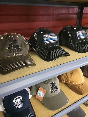 ... Thin Blue Line Hat Cap police law enforcement American flag Support  Olive Green 3 7d7423b62bb