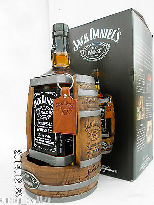 Jack Daniels 1.75L Timber Cradle 2014 Complete With Bottle/Boxed -RARE!!!!!!! 4