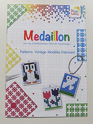 Mini-Pixelhobby / Pixel mosaic Schlüsselanhänger-Set Frosch