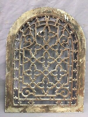 One Porcelain Antique Arched Top Heat Grate Grill Gothic Wall Arch 10X13 47-19D 2