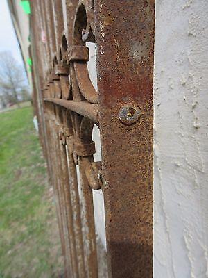 Antique Victorian Iron Gate Window Garden Fence Architectural Salvage Door #318 5