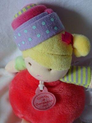 Doudou Et Compagnie Les Demoiselles Cupcake Corail 20 Cm Doudou Mouchoir Hochet 5