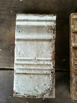 Antique Hand-carved ? Architectural Salvage Rosettes -chippy farmhouse #7 3