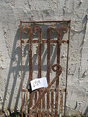 Antique Victorian Iron Gate Window Garden Fence Architectural Salvage Door #654 3