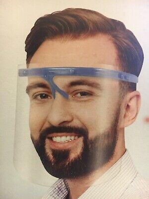 Safety Full Face Shield Clear Flip-Up Visor Transparent Medical Dental Glass 2