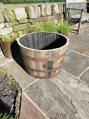 Large Whisky Barrel oak planter/tub 5