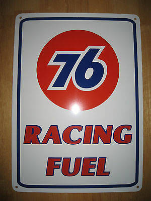 UNION 76 Racing Fuel Gas Pump SIGN Service Station unicol oil Ad Logo Free Ship 2