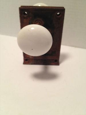 Three Porcelain Door Knobs W/ Lock (No Key) 1 Single & 2  W/lock 10