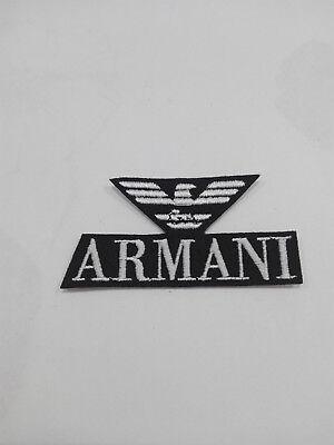 Parche bordado para coser estilo Armani 7/3,5 cm adorno ropa PERSONALIZADA 4