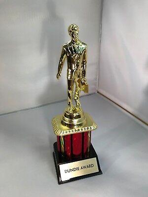 "Dundie Trophy Award The Office TV Dunder Mifflin Dundee 10 1/2"" Dunde NEW 6"