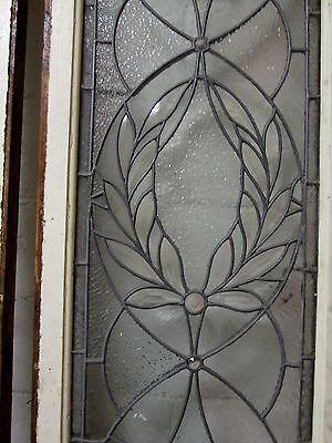 Monumental 9 Ft. Pair Beveled Antique Glass Door Side- Lites W/10 Jewels # 531 6