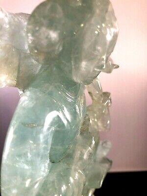 Antique Chinese Green Quartz Figurine 3