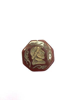 Genuine Antique Old Natural Agate Stamp Seal Engraved Intaglio Bead Gemstone 4