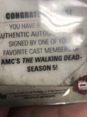 Walking Dead Season 5 Autograph Card Danai Gurira as Michonne Sepia 09/10 5