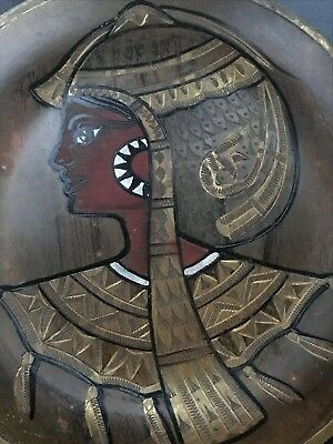 Pair of Vintage Copper Brass Silver Egyptian Plates - wall hangings 6