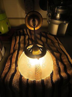 Antique  Brass Wall Light Sconce Light Fixture Gas 2