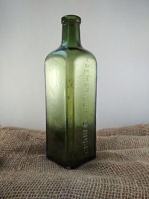 "Alte Apothekerflasche ""HAEMATICUM=GLAUSCH"" / old pharmacy bottle 7"