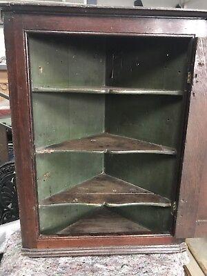 Antique Hanging Corner Cabinet, Georgian English Oak Wall Cupboard, c.1800 4