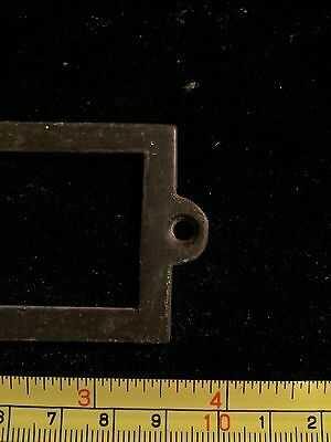 Antique Heavy brass name plaques , apothecary Draw Dresser Handle Knocker Bronze 11