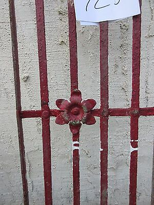 Antique Victorian Iron Gate Window Garden Fence Architectural Salvage #725 3