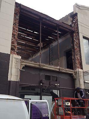 3 Story Terra Cotta Building Facade Front Cherubs Dolphins 35 Feet Tall 9