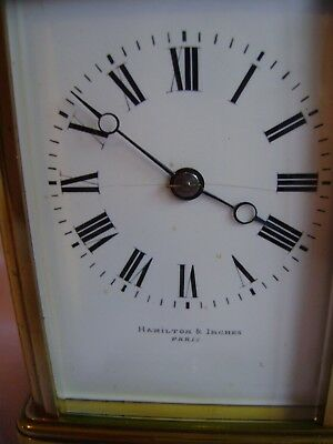 Antique Margaine Timepiece Small Carriage Clock + Key In Good Working Order 2