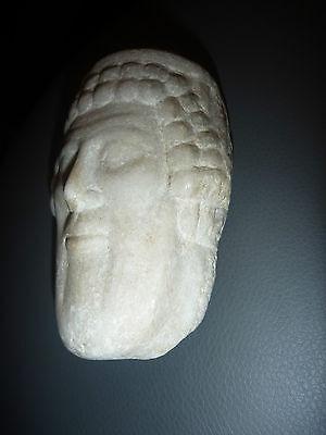 A Roman / Greek   Marble Head Of Hermes ? Propylaios  ??  Circa 1St Century B.c. 5