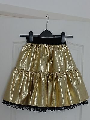 Girl's Metallic Gold Coloured Party Skirt, Fully-Lined, 11-14 Years 4