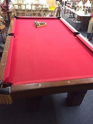 Antique Pool Table Monarch Brunswick Balke Collender Co