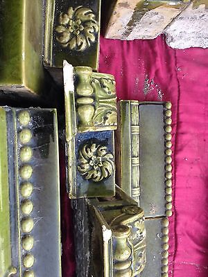 Decorative Green Tile Fireplace Mantle Antique Glazed